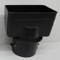 "Adapter Downspout PVC 3"" x 4"" To 3"" Round Black 200"