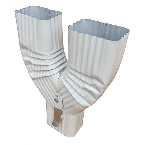 Diverter Alum Y Funnel Lg White Square Corrugated 2 Quot X 3 Quot