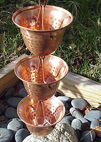 Rain Chain Copper Bells 200