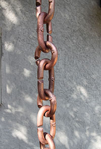 Rain Chain Copper Cast Links 200