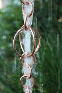 Rain Chain Copper Circles 200
