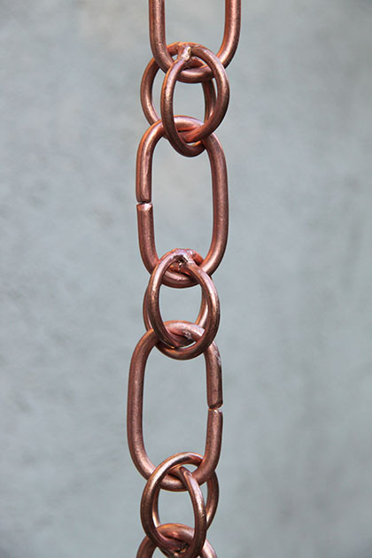 Rain Chain Copper Link And Loop 420