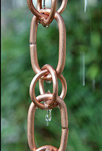 Rain Chain Copper Link And Loop Beauty 200