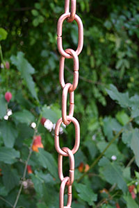 Rain Chain Copper Traditional Link 200