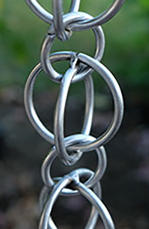 Rain Chain Stainless Double Loops 320