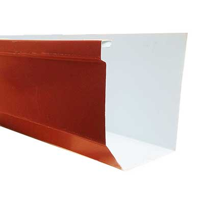Seven Inch Roll Formed Commercial Box Gutter In 032 Kynar