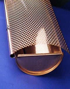 The Hinged Five Inch Copper Half Round Gutter Guard System