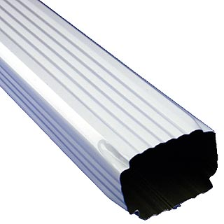 Residential Downspout Aluminum 019 2x3 Square Corrugated