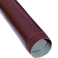 "Downspout Alum .019 4"" Plain Round RB 200x"