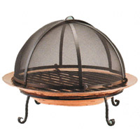 Copper Fire Pit With Sreen 200x
