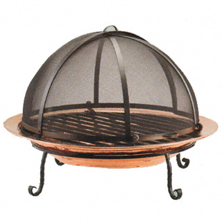 Copper Fire Pit With Sreen 320x