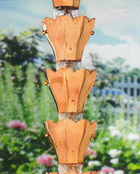 Rain Chain Copper Tulip 200x
