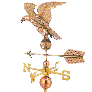 "Eagle 21"" Copper Weathervane 21""L x 17""H x 21"" Wingspan"