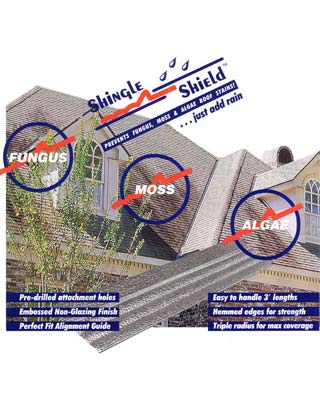 Shingle Shield Zinc Strips Prohibit The Growth Of Algae