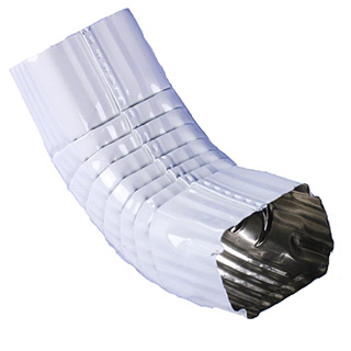 Downspout Elbow Aluminum Square Corrugated 2x3 B Style 75 186