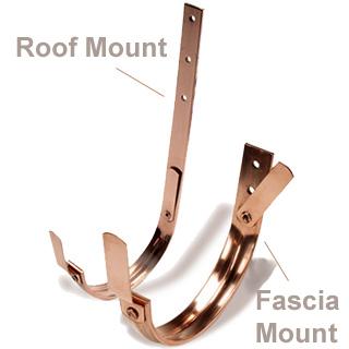 Hanger Copper 5 Quot Half Round European Roof Mount Bracket