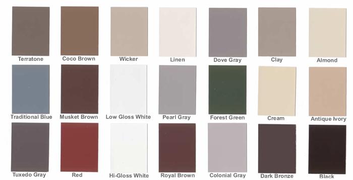 Aluminum Gutter Color Choices