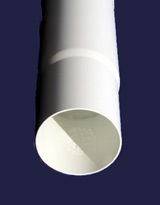 downspout pvc 3in wh 160