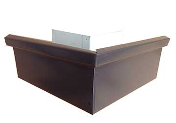 Miter Galvanized 24 Gauge 6 Quot Commercial Box Kynar Finish
